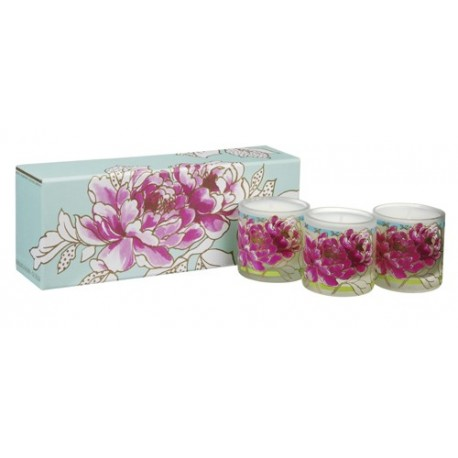 designers guild coffret de 3 bougies parfum es peony. Black Bedroom Furniture Sets. Home Design Ideas