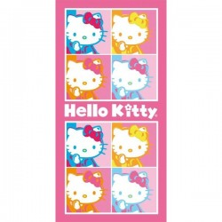 Serviette de Bains Hello kitty Pop Art