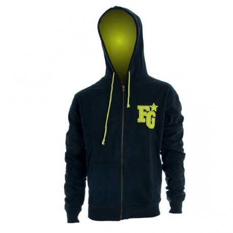 Freegun Wear - Sweat Molleton Noir / Vert