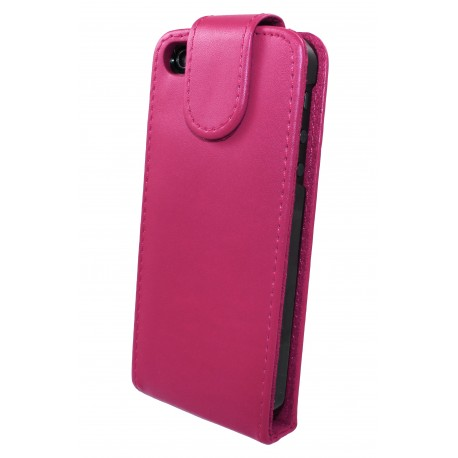 iPhone 5 - Etui Simili Cuir Flip Rose