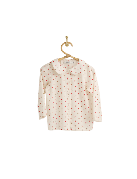 Pirouli - Denise blouse with Red Strawberry Design