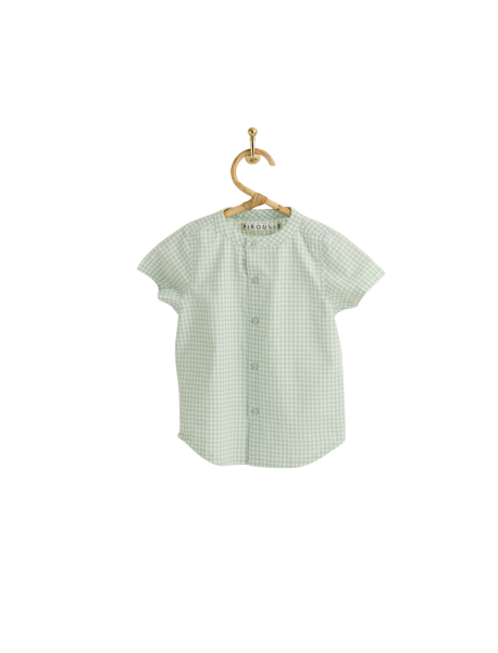 PIROULI - Overall Isidore mint gingham pattern