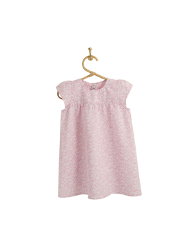 PIROULI - Dress Manon pink garden print
