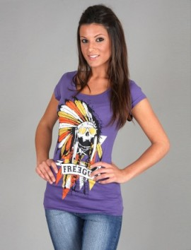 Freegun - T-shirt Femme Indian Purple