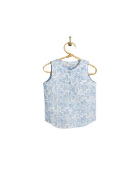 PIROULI - Jade Overall leave blue