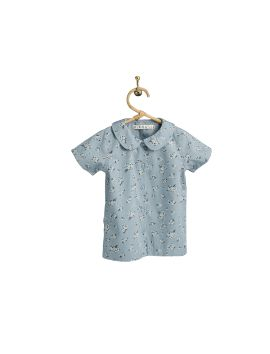 PIROULI - Karine Blouse bunch blue