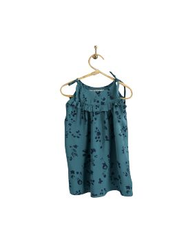 PIROULI - Emeline Dress flower aqua-marine