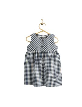 PIROULI -Lilou Dress gingham navy