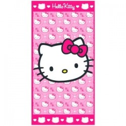 Serviette de Bains Hello kitty head