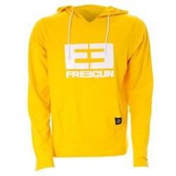 Freegun Wear - Sweat léger capuche Jaune Orangé