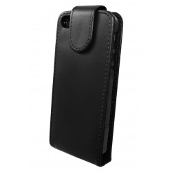 iPhone 5 - Etui Simili Cuir Flip Noir