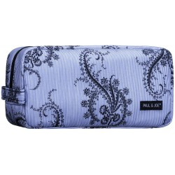 Paul & Joe - Cosmetic Pouch III - Blue & Black Paisley Print Cat
