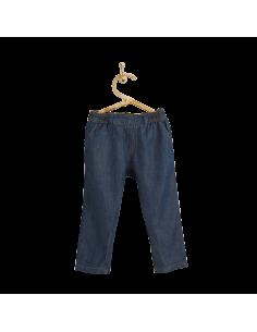 PIROULI - Trousers Johan plain indigo