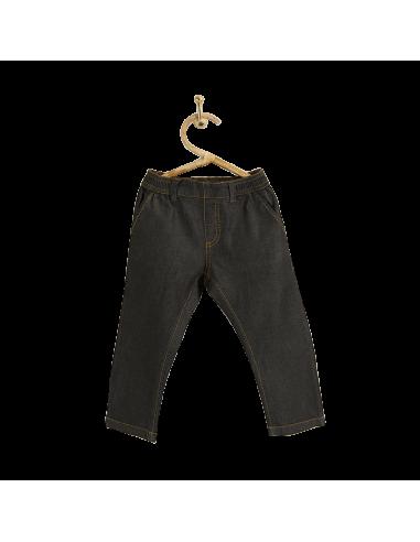 PIROULI - Pantalon Johan uni noir