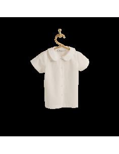 PIROULI - Blouse Karine beige polka-dot print