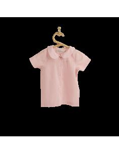 PIROULI - Blouse Karine plain pink