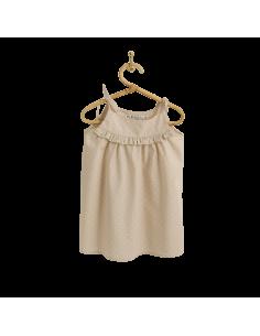 PIROULI - Dress Emeline peach polka-dot print