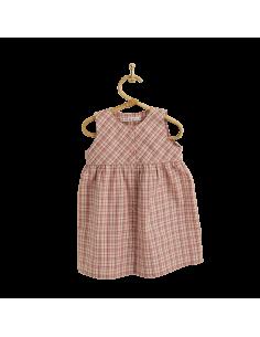 PIROULI - Dress Lilou pink tartan pattern