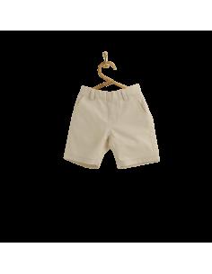 PIROULI - Bermuda Shorts Gatien plain cream
