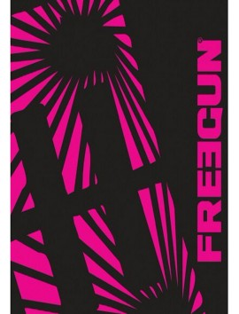 Freegun - Large Black and Pink Beach Towel - 100 x 170 cm