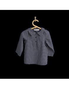 PIROULI - Pea Jacket Célestin navy checks pattern