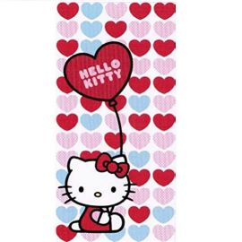 Hello Kitty - Beach Towel Red Heart Balloon